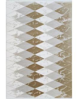 Kahverengi Geometrik Dekoratif Modern Desenli Akrilik Halı