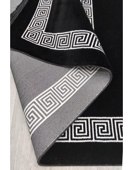 Siyah Dekoratif Modern Desenli Akrilik Halı