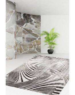 Kahverengi Zebra Desenli Modern Halı