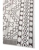 Kahverengi Geometrik Desenli Modern Halı