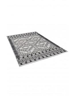 Siyah Geometrik Desenli Modern Halı