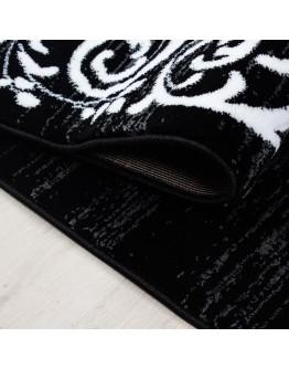 Dekoratif Modern Desenli Siyah Halı