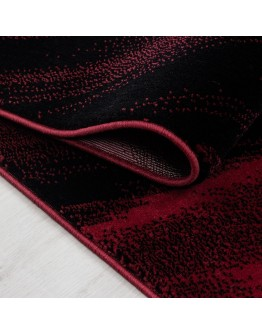 Modern Dalga Desenli Kırmızı Halı