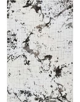 Kahverengi Coğrafi Desenli Yumuşak Dokulu Modern Halı