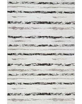 Kahverengi Koyu Gri Çizgi Desenli Yumuşak Dokulu Modern Halı