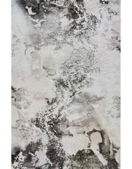 Kahverengi Okyanus Desenli Yumuşak Dokulu Modern Halı