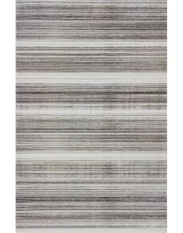Kahverengi Çizgi Desenli Yumuşak Dokulu  Modern Halı