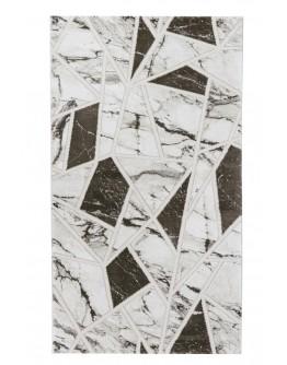 Kahverengi Geometrik Desenli Yumuşak Dokulu Halı