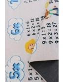 Çocuk Odası Çarpım Tablosu Desenli  Kilim