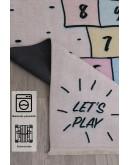 Çocuk Odası Sayı ve Sek Sek Oyun Desenli  Kilim
