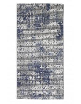 Mavi Tuğla Desenli Yumuşak Dokulu Halı