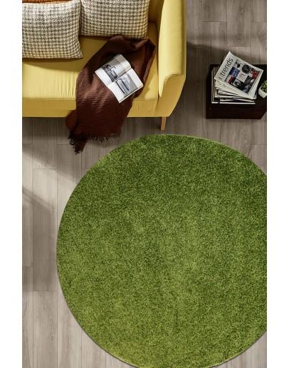 30 mm Hav Yüksekliğinde Yeşil Renkli Oval Shaggy Halı