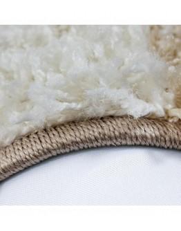 Shaggy Halı 30 mm Hav yüksekliği Kareli Desen Mor Gri Beyaz