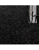 Shaggy Halı 30 mm uzun ve yüksek tüylü düz Antrazit rengi