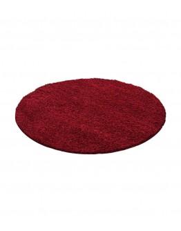Shaggy Halı 30 mm uzun ve yüksek tüylü Düz Kırmızı renkli